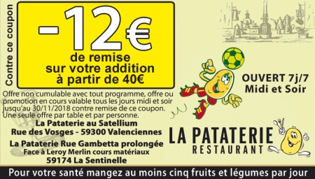 Coupon La Pataterie