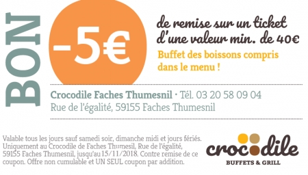 Coupon Crocodile Faches Thumesnil