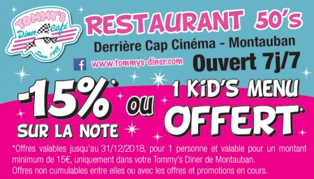 Coupon Tommy's Diner