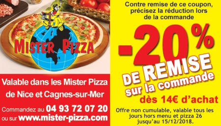 Coupon Mister Pizza