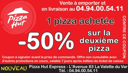 Coupon Pizza Hut Express