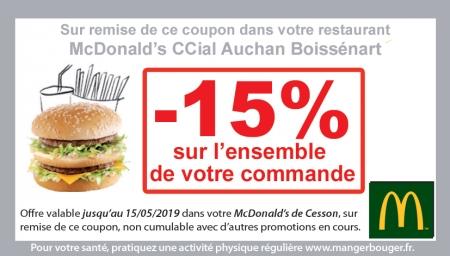 Coupon Mc Donald's