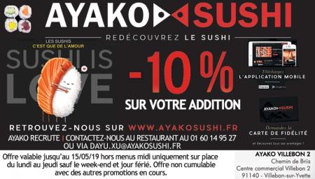 Coupon Ayako Sushi
