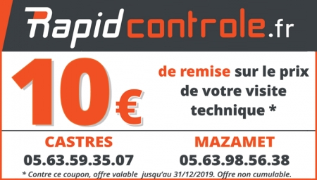 Coupon Rapid controle