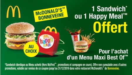 Coupon Mc Donald's