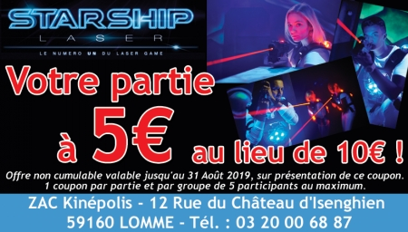 Coupon Starship Laser