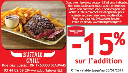 Coupon Buffalo Grill