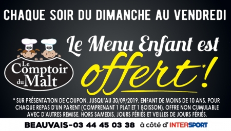 Coupon LE COMPTOIR DU MALT