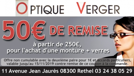 Coupon Optique Verger