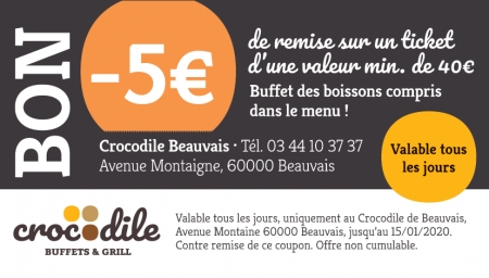 Coupon Crocodile Beauvais