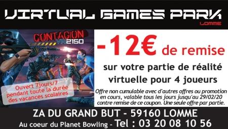 Coupon Virtual Games Park Lomme
