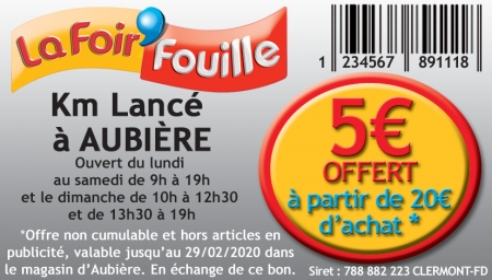 Coupon La Foir'Fouille