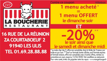 Coupon La Boucherie
