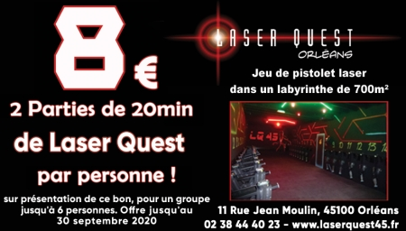 Coupon Laserquest