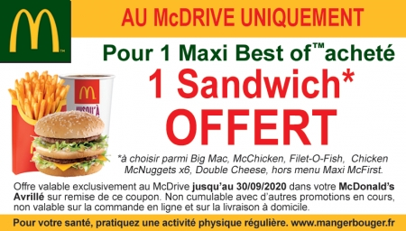Coupon McDonald's