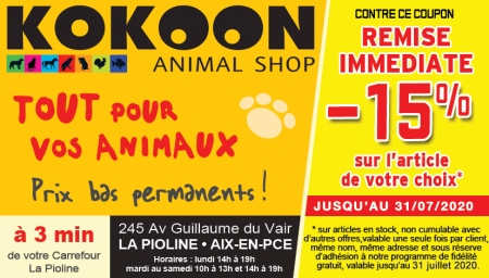 Coupon Kokoon animal shop