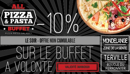 Coupon All Pizza et Pasta Buffet