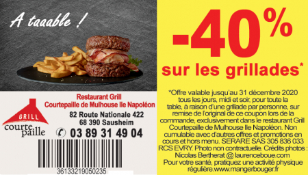 Coupon Courtepaille