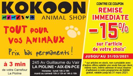 Coupon Kokoon animal shop