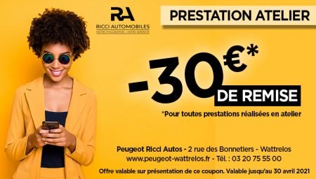 Coupon PEUGEOT RICCI AUTOS