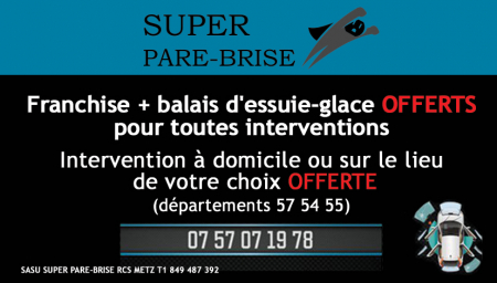 Coupon SUPER PARE BRISE