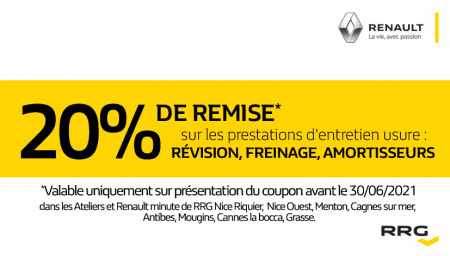 Coupon RENAULT RRG CANNES