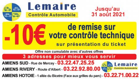 Coupon Lemaire auto contrôle