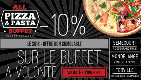 Coupon All Pizza et Pasta Buffet