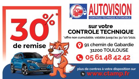 Coupon AUTOVISION Toulouse