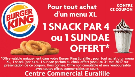 Coupon Burger King