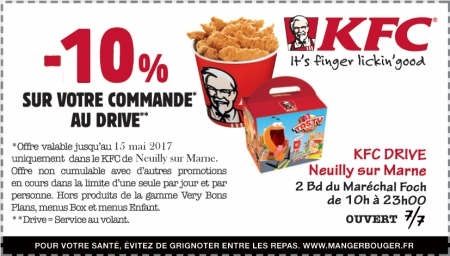 Promo restauration rapide kfc neuilly sur marne for Garage ad neuilly sur marne