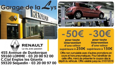 Promotions garage automobile lille for Renault garage lille